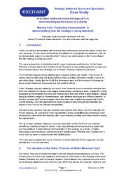 Organisation case study essay