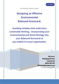 Designing an effective environmental balanced scorecard (Cover image)