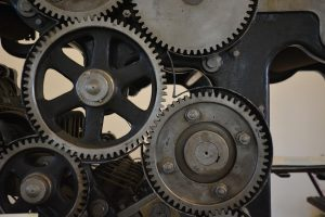 Gears operating together